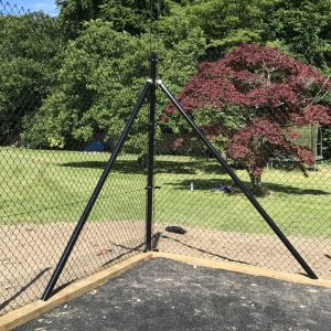 CHAIN LINK FENCING BLACK