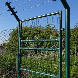 GALVANIZED GREEN SINGLE GATE , MESH