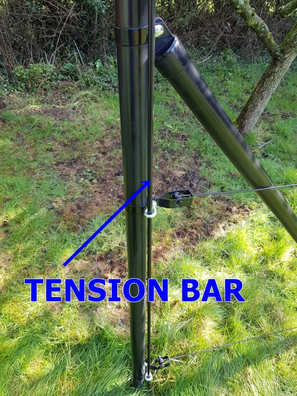 TENSION BAR 8 MM BLACK
